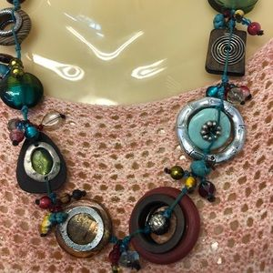 Jewelry - Boho Chunky Rock Necklace Colorful